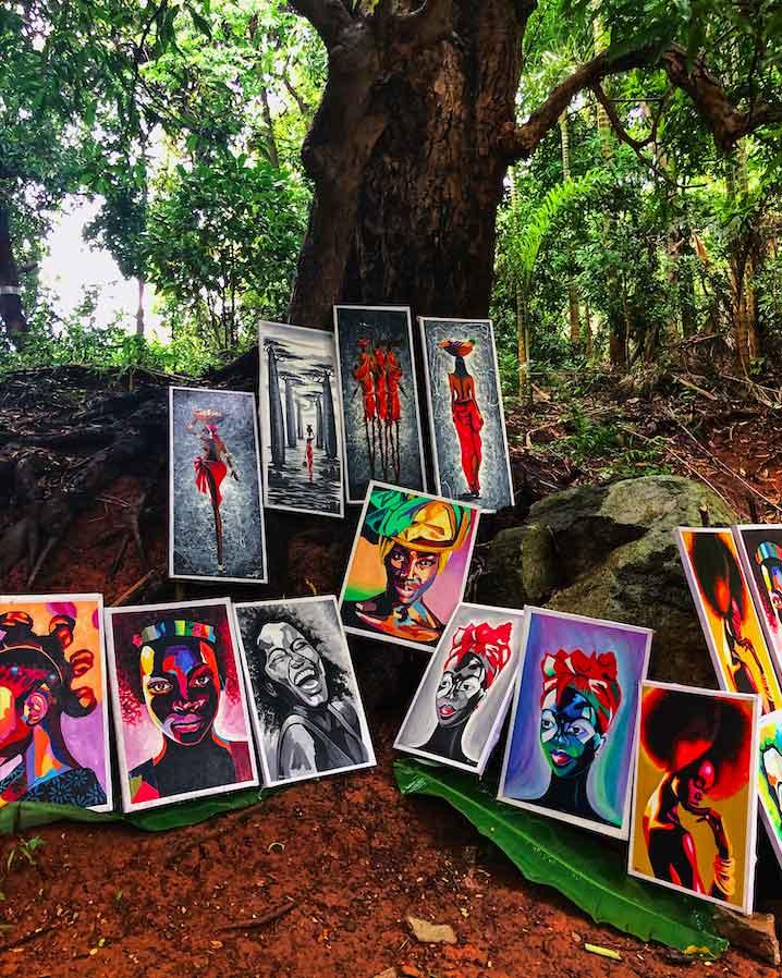 Malagasy art in Nosy Komba island